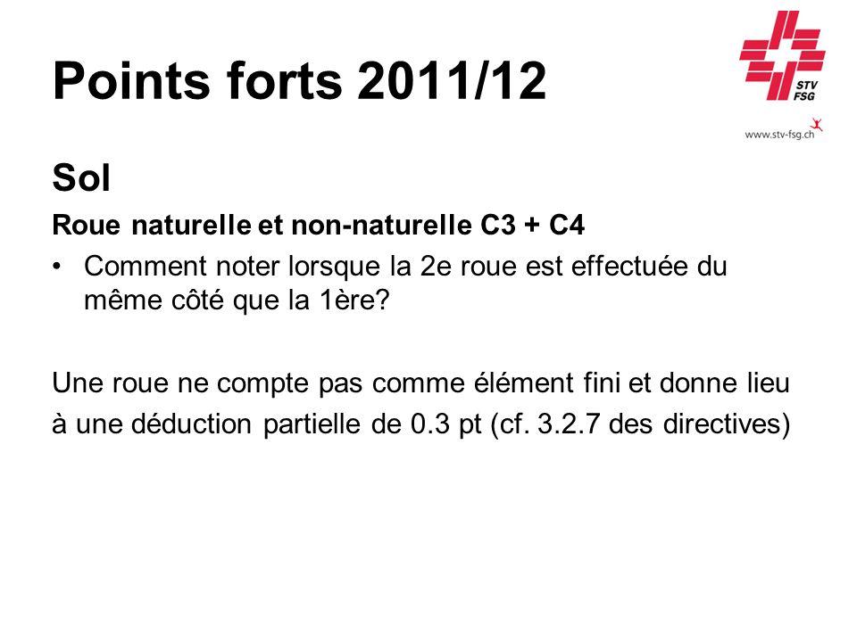 Points forts 2011/12 Sol Roue naturelle et non-naturelle C3 + C4