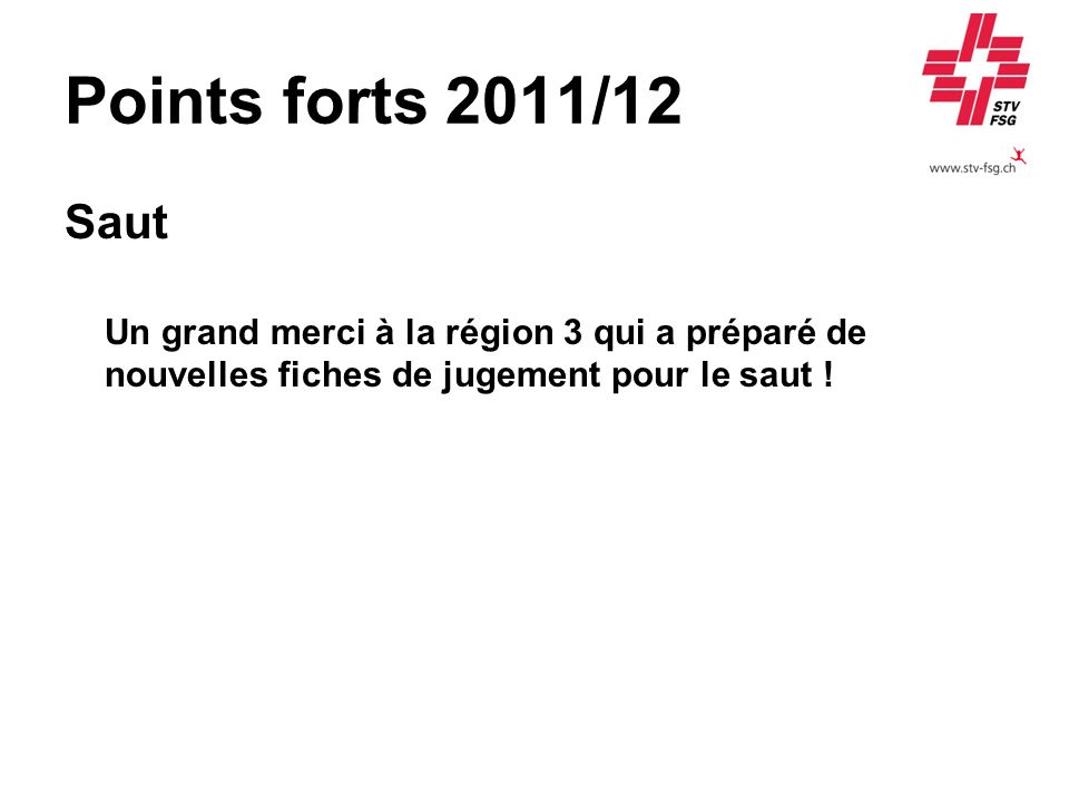 Points forts 2011/12 Saut.