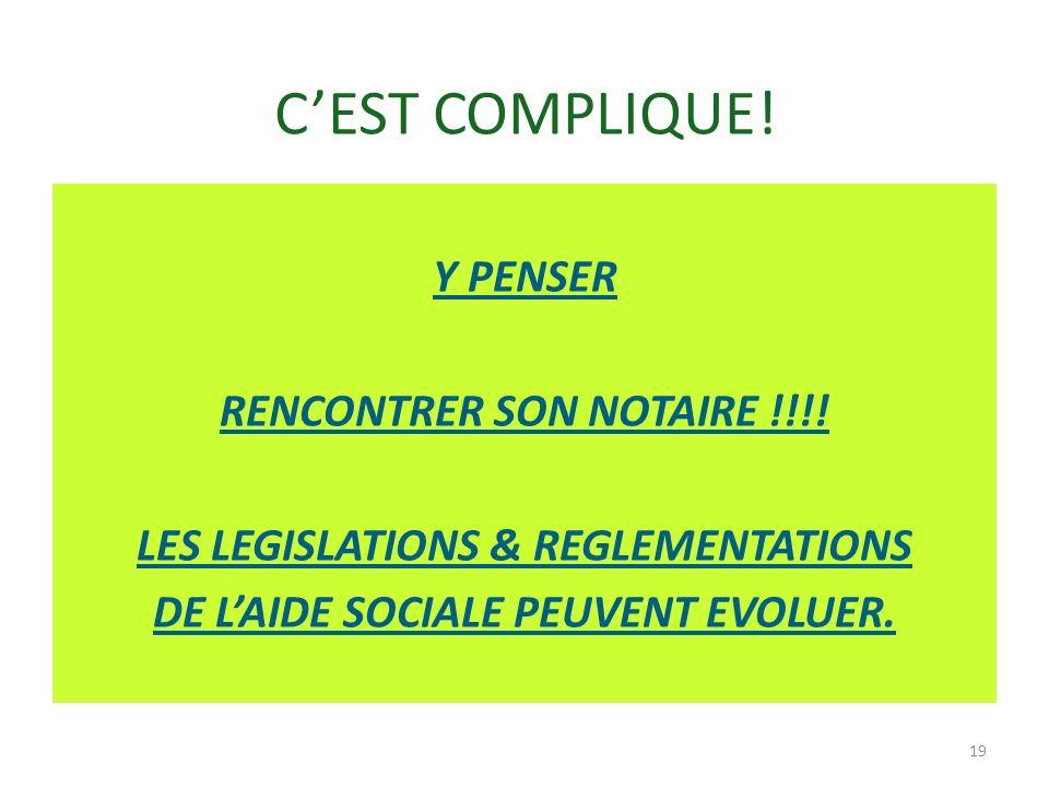 C'EST COMPLIQUE. Y PENSER RENCONTRER SON NOTAIRE !!!.