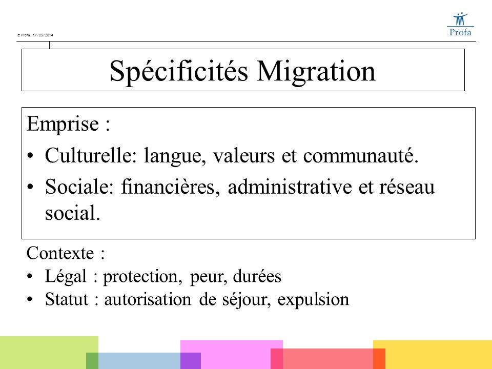 Spécificités Migration