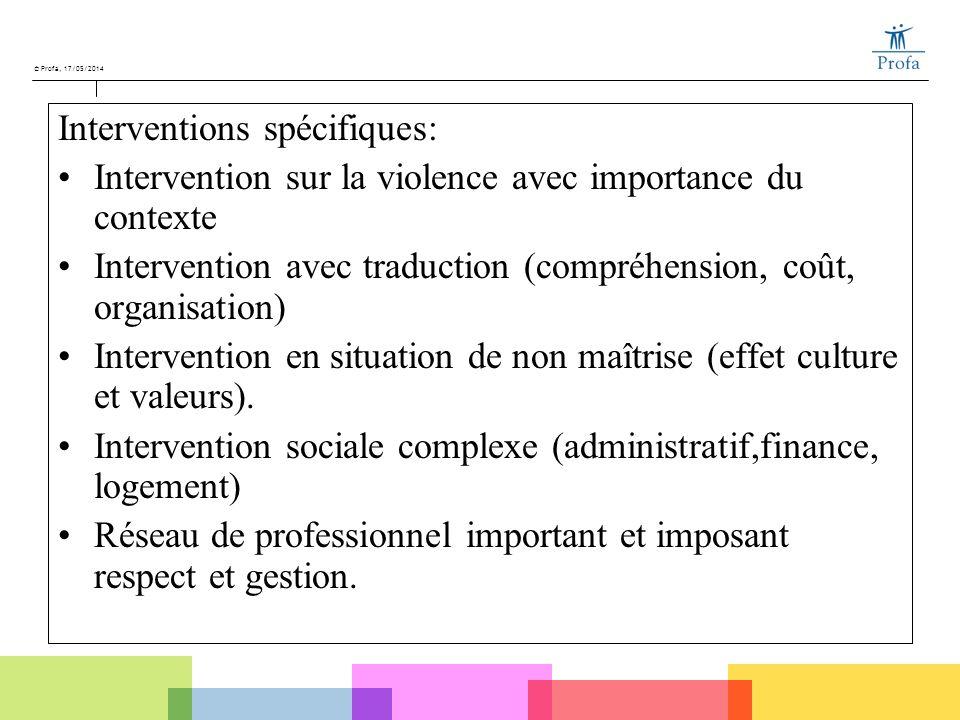Interventions spécifiques: