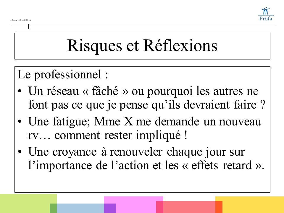 Risques et Réflexions Le professionnel :