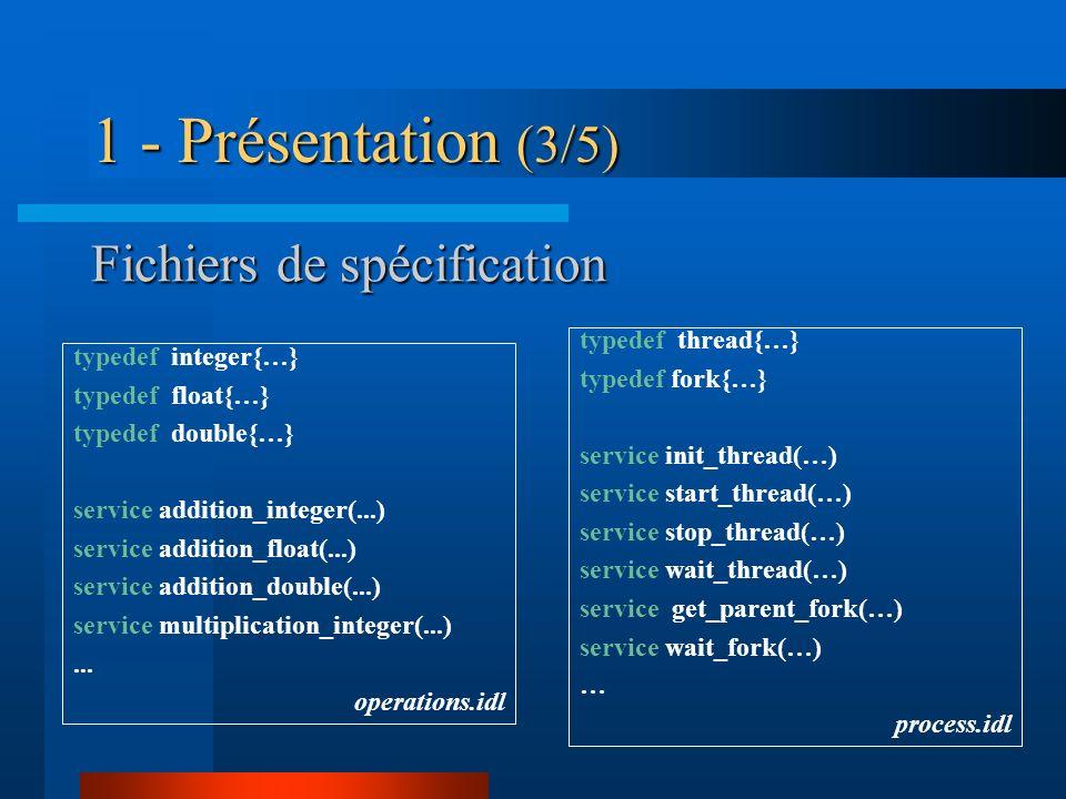 Fichiers de spécification