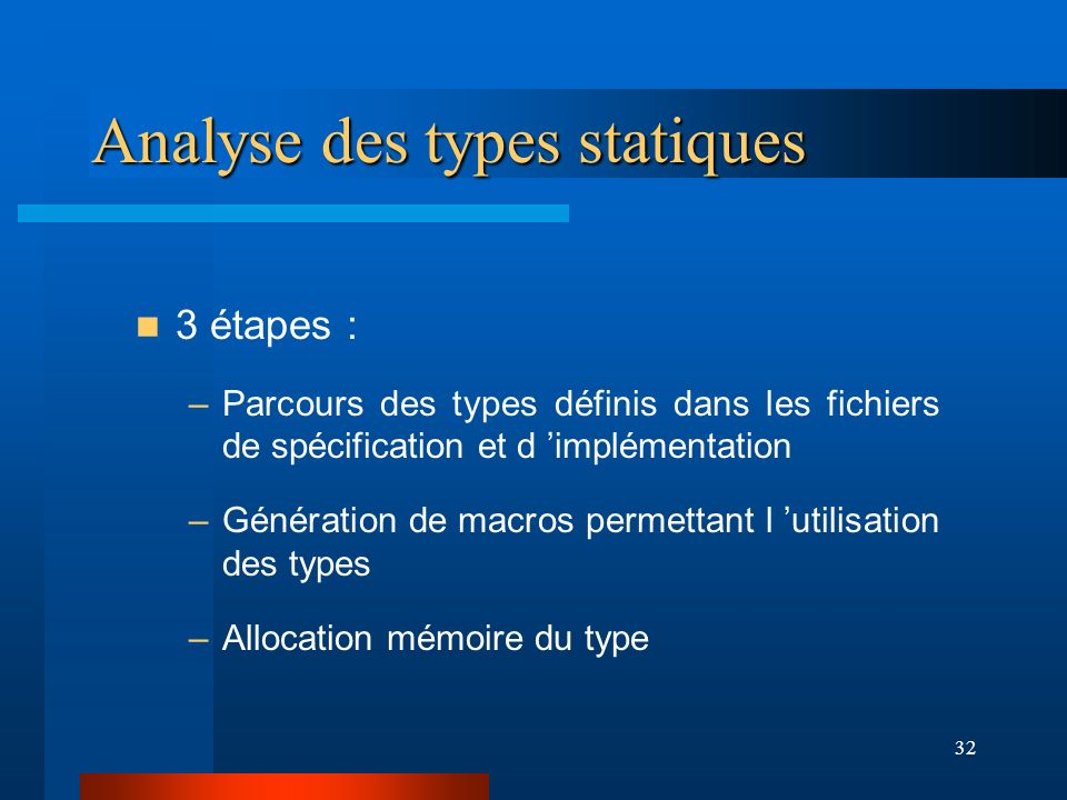 Analyse des types statiques