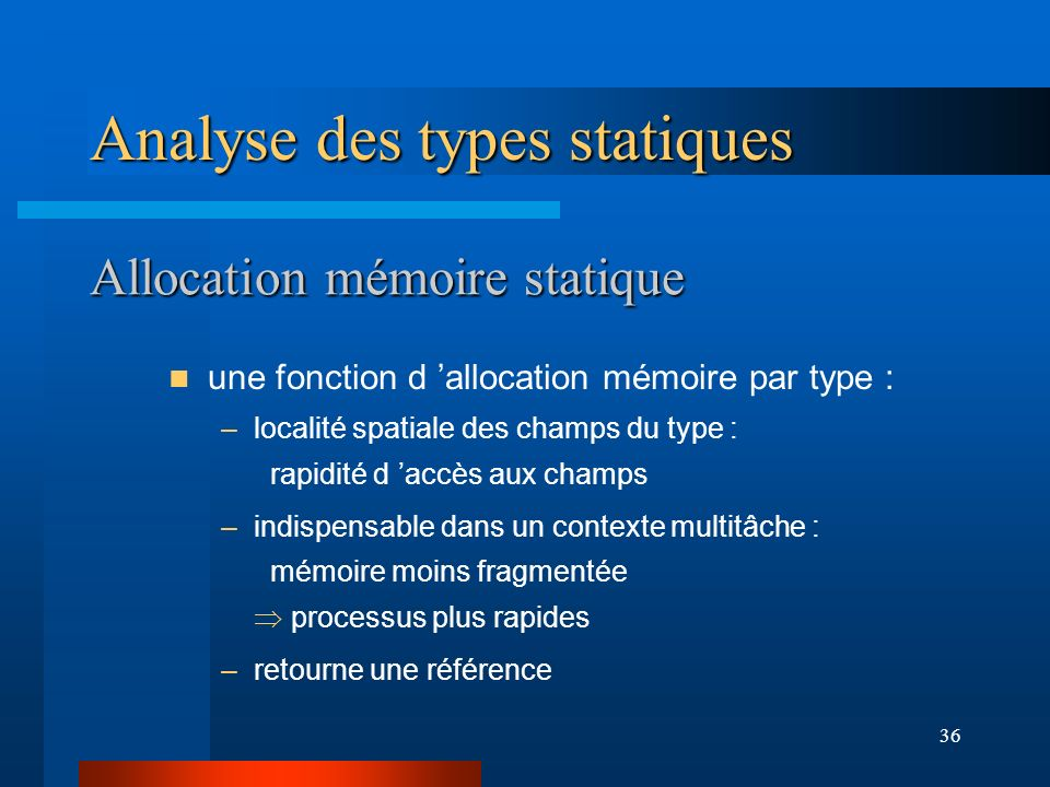 Allocation mémoire statique
