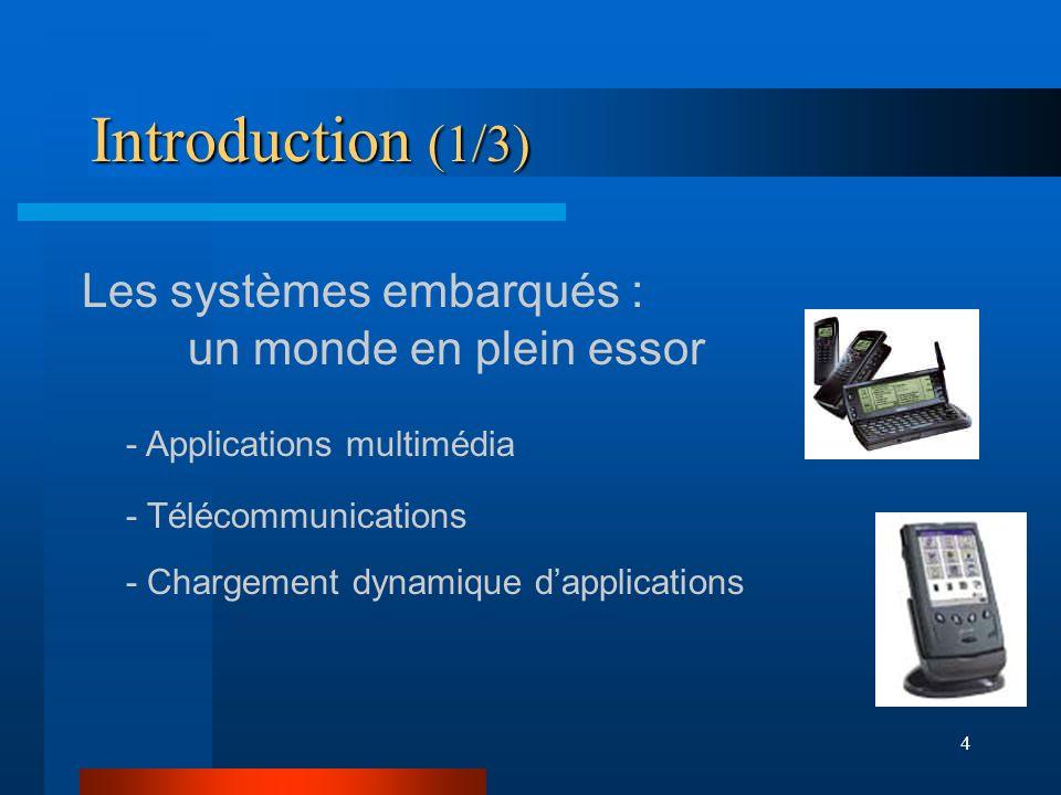 Introduction (1/3) Les systèmes embarqués : un monde en plein essor