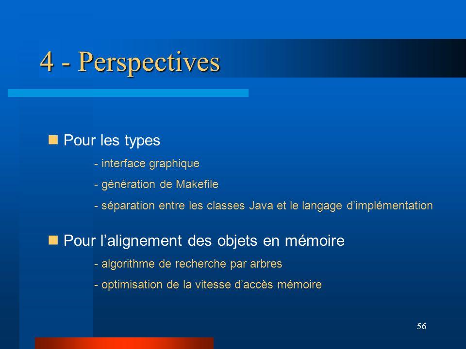 4 - Perspectives Pour les types