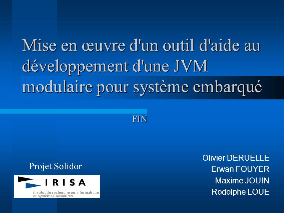 Olivier DERUELLE Erwan FOUYER Maxime JOUIN Rodolphe LOUE