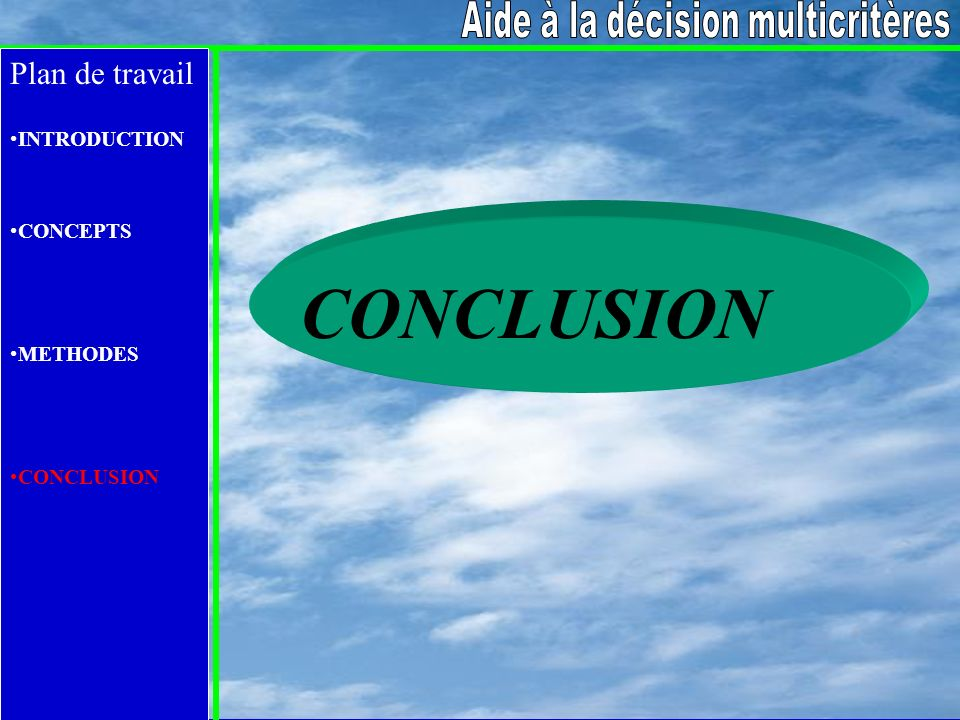 Aide à la décision multicritères
