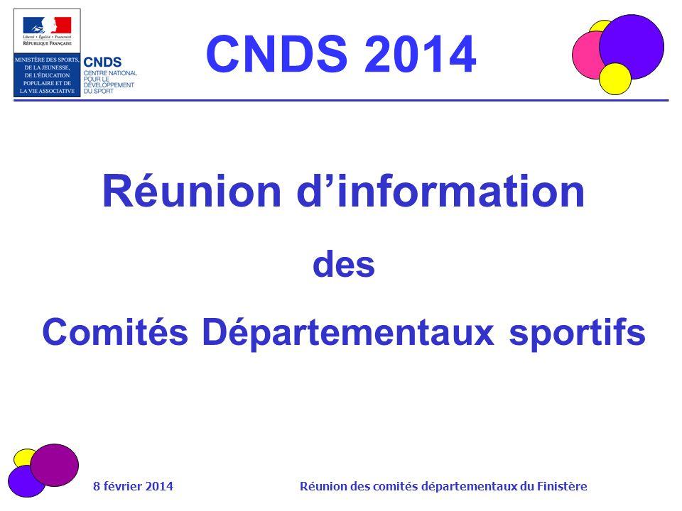 Réunion d'information Comités Départementaux sportifs