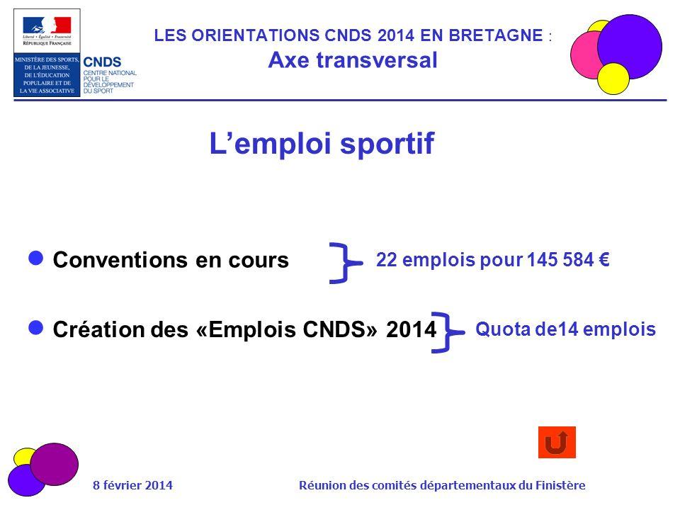 LES ORIENTATIONS CNDS 2014 EN BRETAGNE : Axe transversal