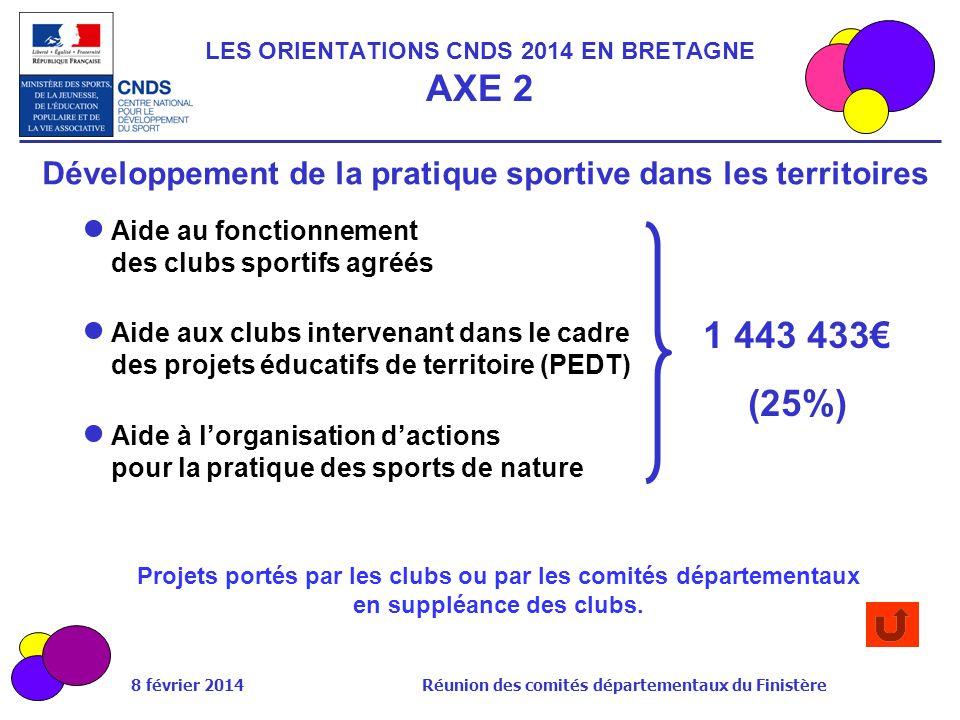 LES ORIENTATIONS CNDS 2014 EN BRETAGNE AXE 2