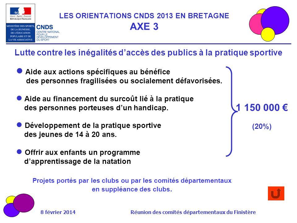 LES ORIENTATIONS CNDS 2013 EN BRETAGNE AXE 3