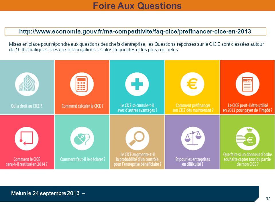 Foire Aux Questions http://www.economie.gouv.fr/ma-competitivite/faq-cice/prefinancer-cice-en-2013.