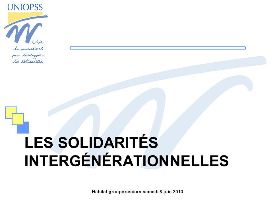 Les solidarités intergénérationnelles