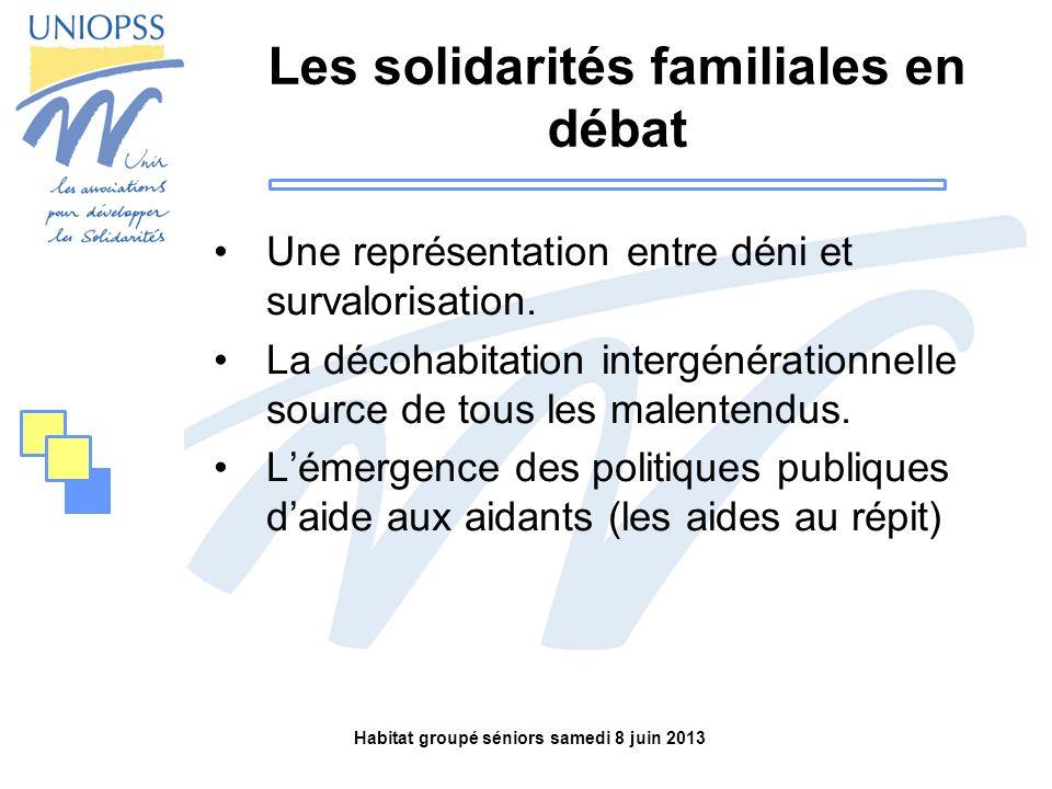Les solidarités familiales en débat