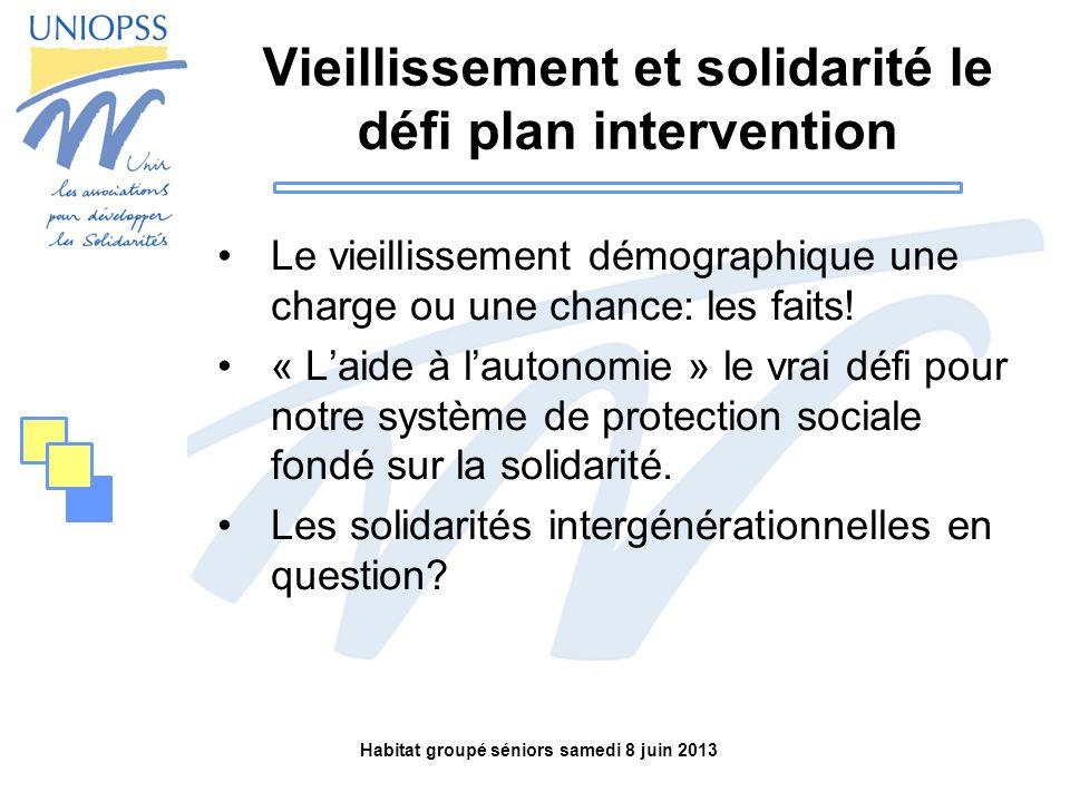 Vieillissement et solidarité le défi plan intervention
