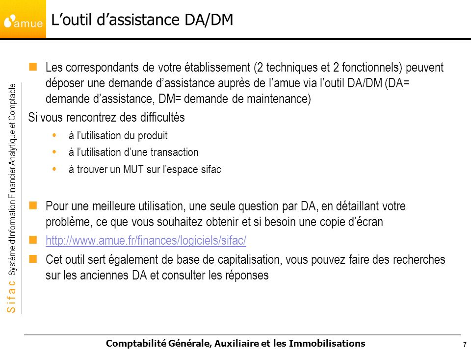 L'outil d'assistance DA/DM