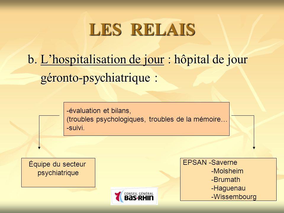 LES RELAIS b. L'hospitalisation de jour : hôpital de jour