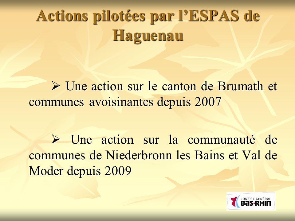Actions pilotées par l'ESPAS de Haguenau