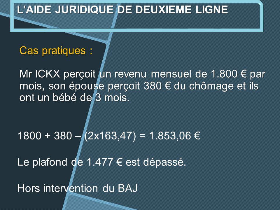 L'AIDE JURIDIQUE DE DEUXIEME LIGNE
