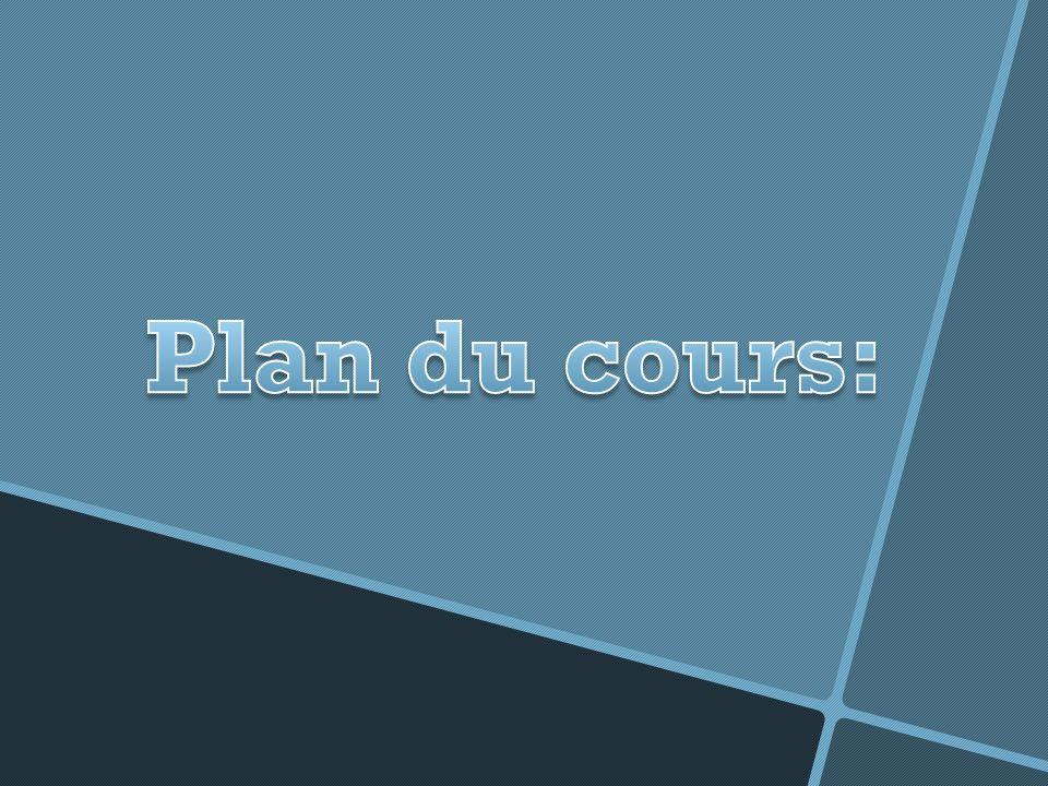 Plan du cours: