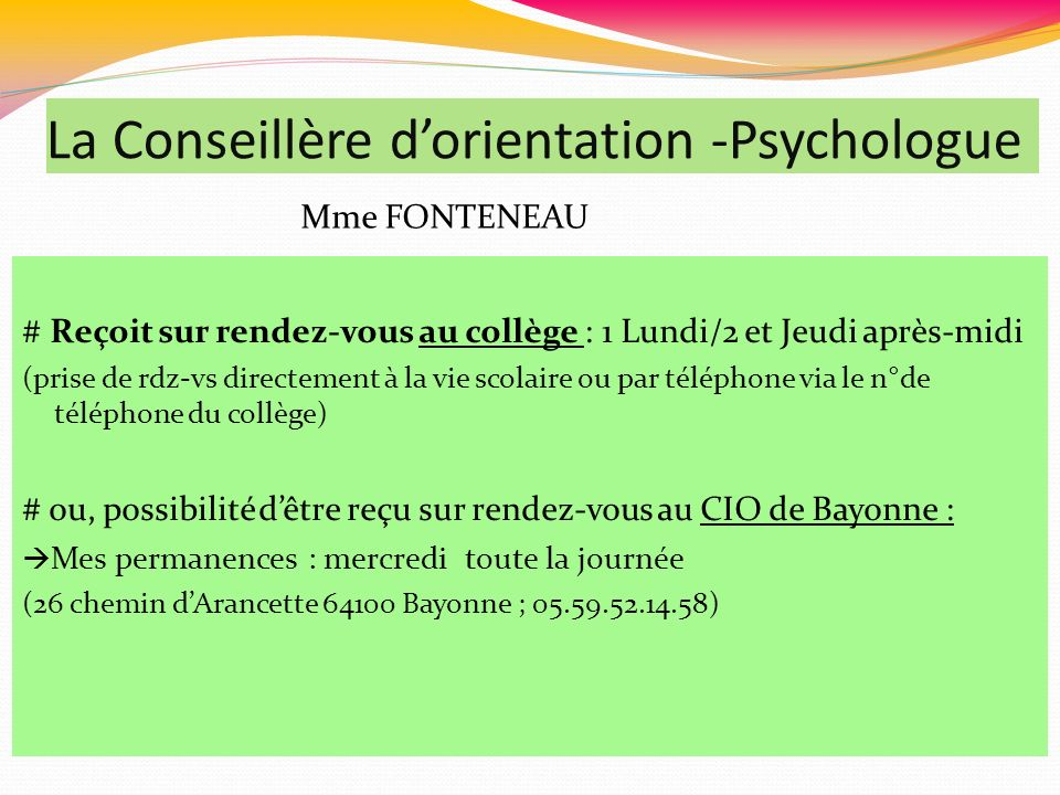 La Conseillère d'orientation -Psychologue