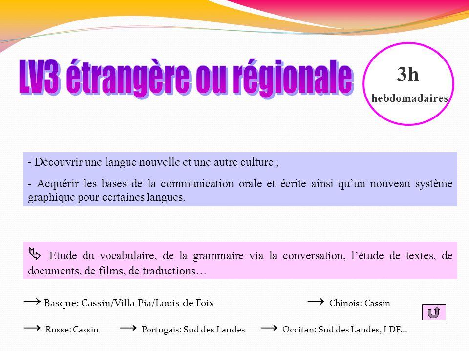 LV3 étrangère ou régionale