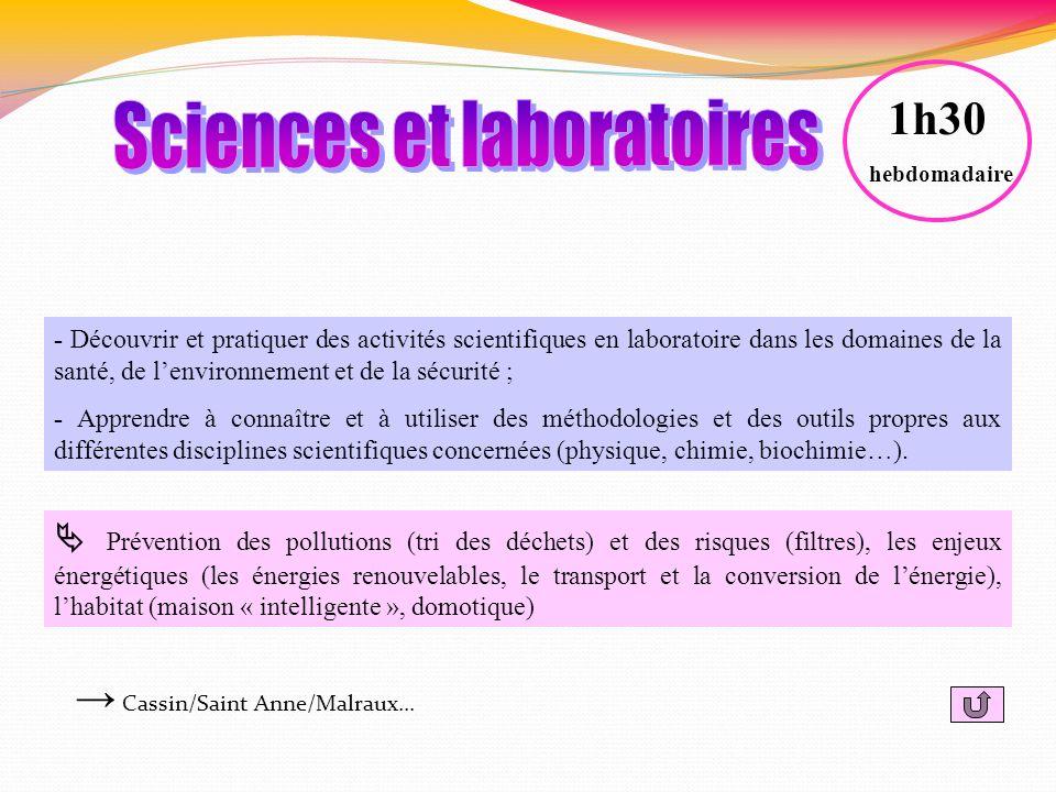 Sciences et laboratoires