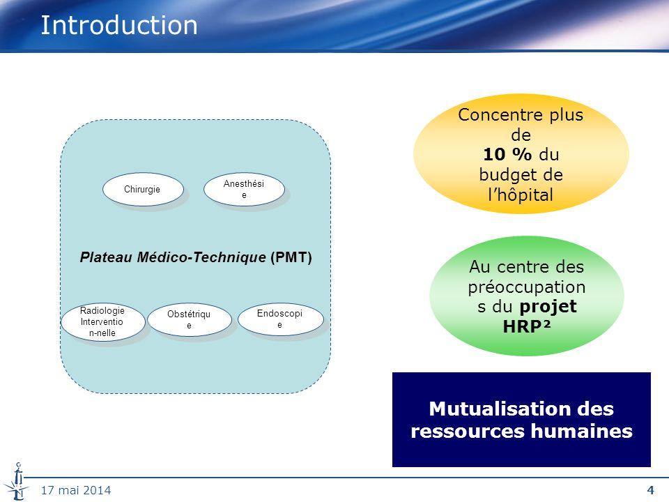 Plateau Médico-Technique (PMT) Mutualisation des ressources humaines