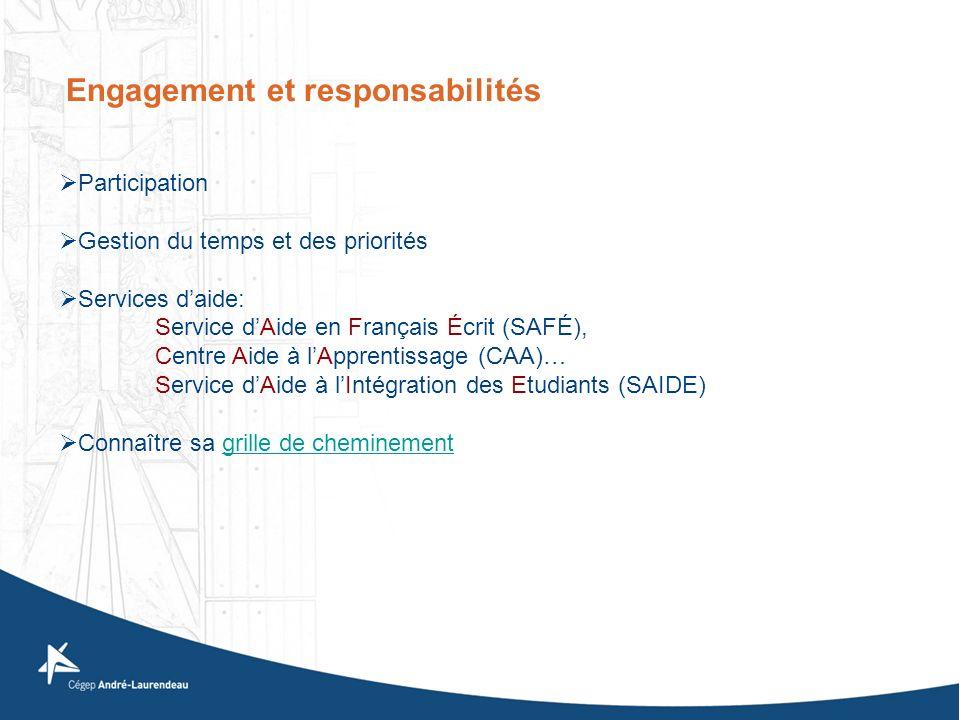 Engagement et responsabilités