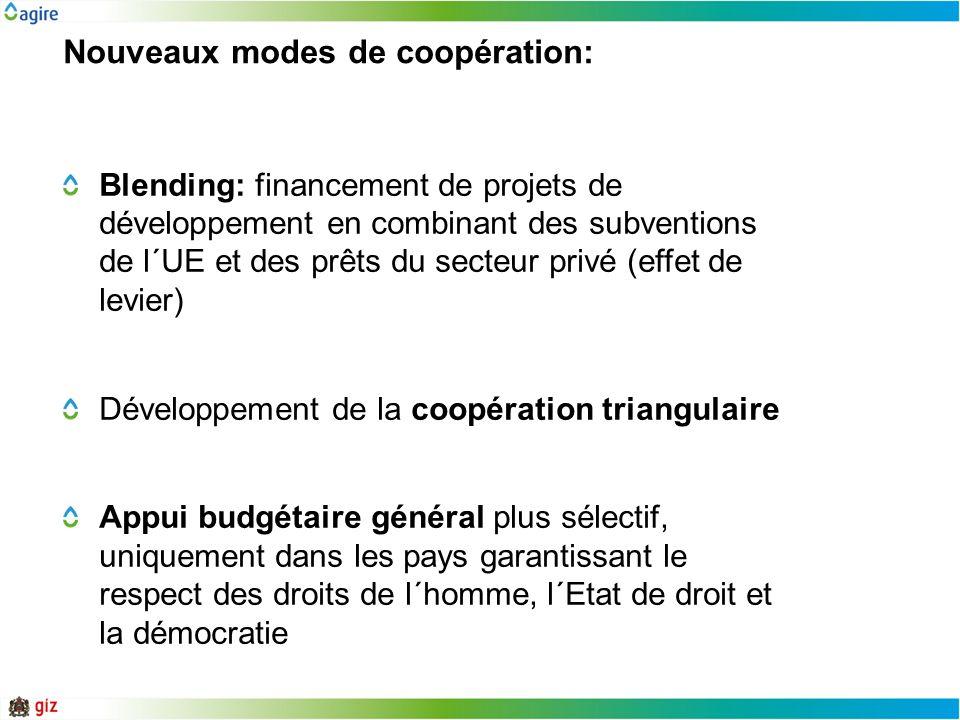 Nouveaux modes de coopération:
