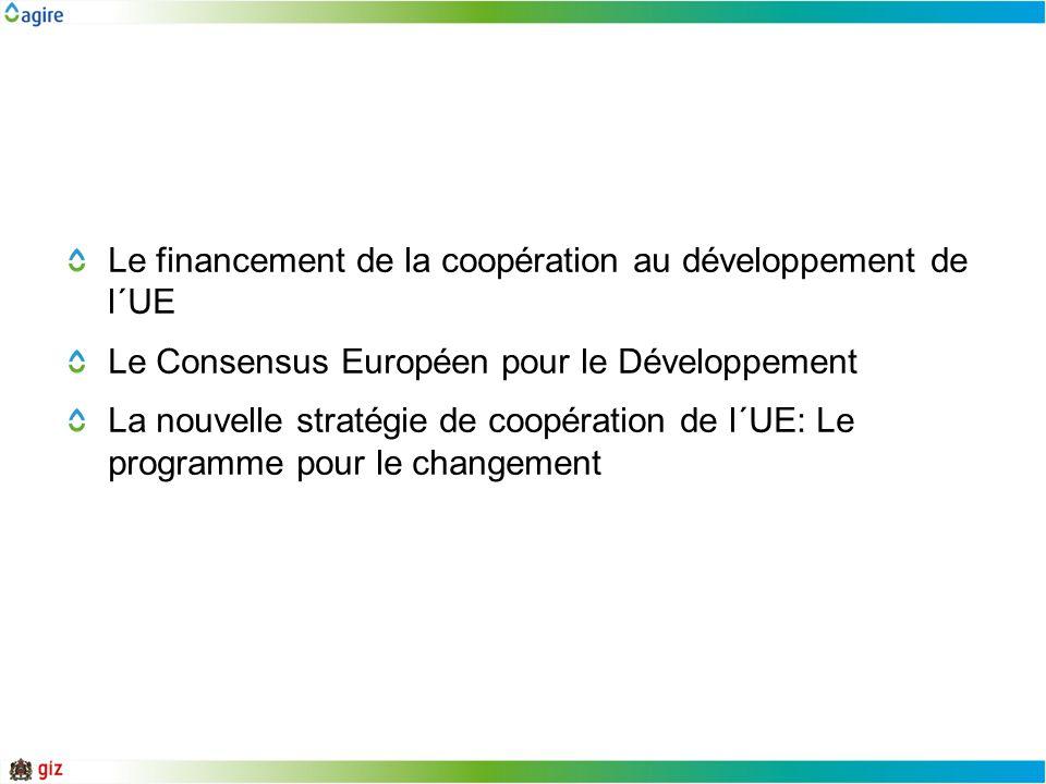 Le financement de la coopération au développement de l´UE