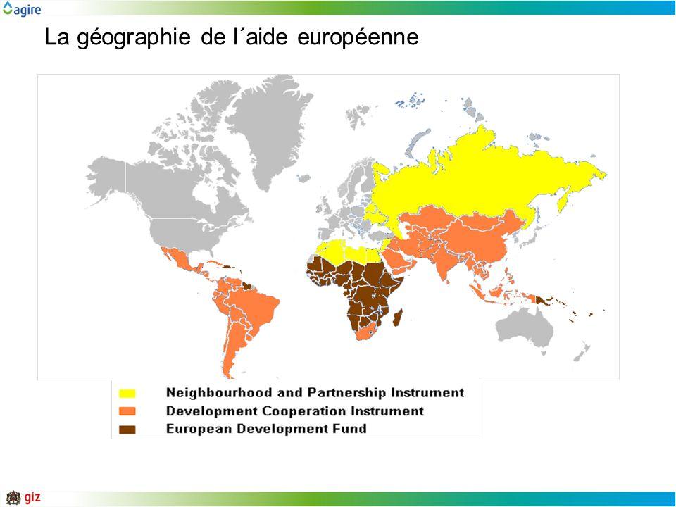 La géographie de l´aide européenne