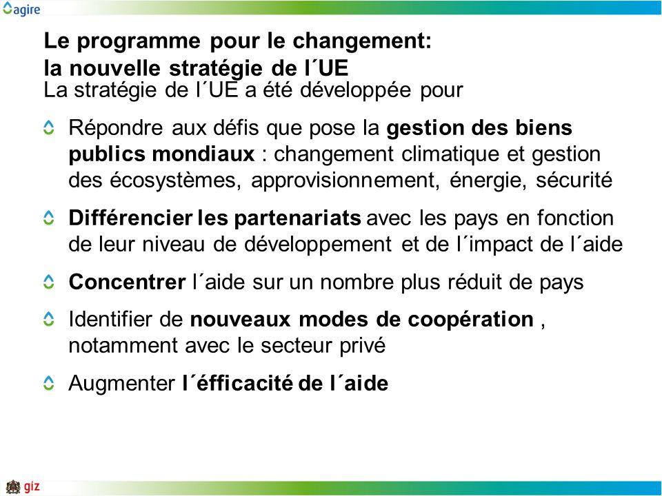 Le programme pour le changement: la nouvelle stratégie de l´UE