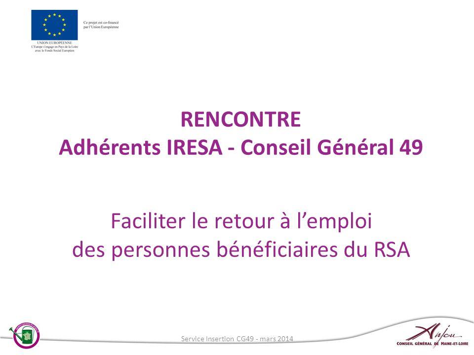 RENCONTRE Adhérents IRESA - Conseil Général 49