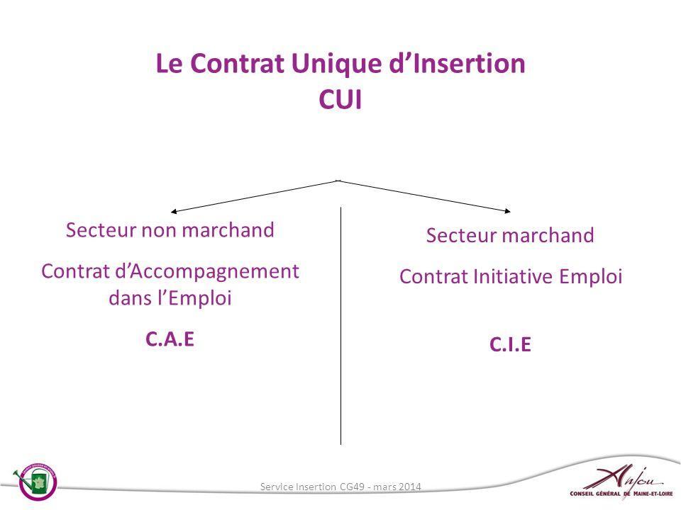 Le Contrat Unique d'Insertion CUI