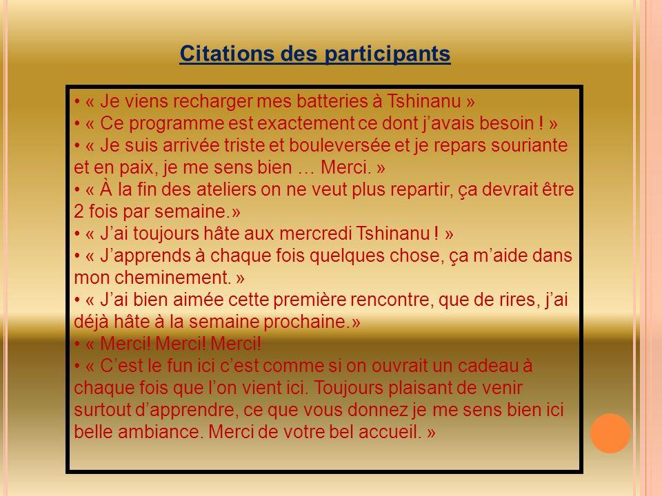 Citations des participants