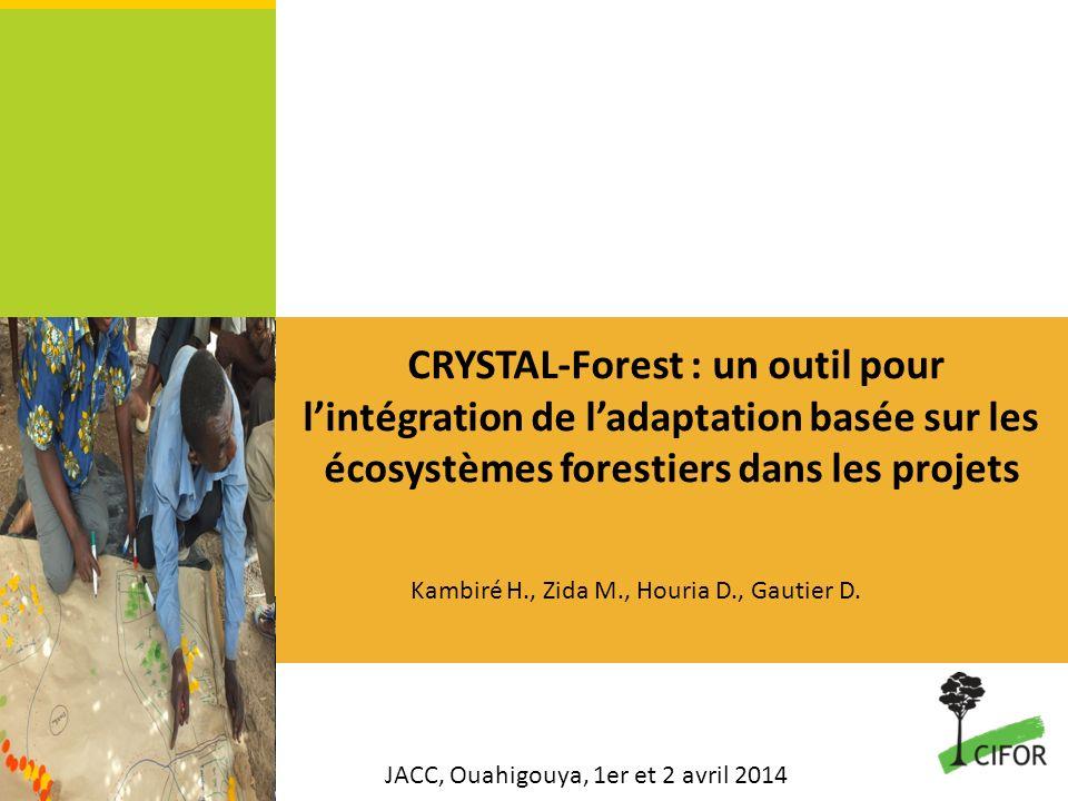 CRYSTAL-Forest : un outil pour l'intégration de l'adaptation basée sur les écosystèmes forestiers dans les projets