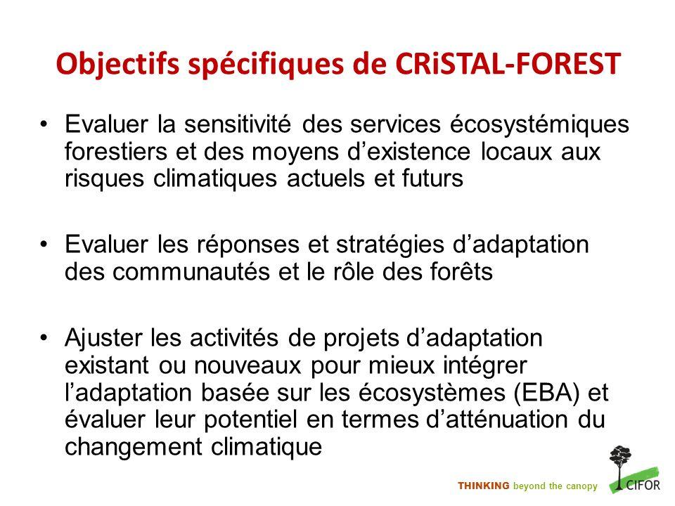 Objectifs spécifiques de CRiSTAL-FOREST