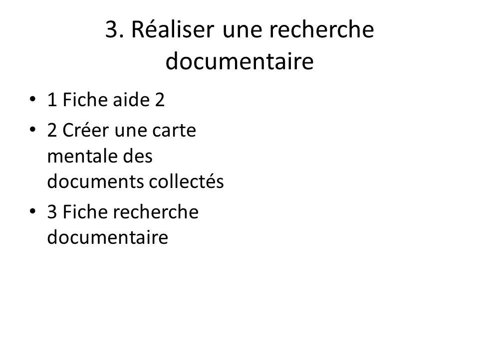 3. Réaliser une recherche documentaire