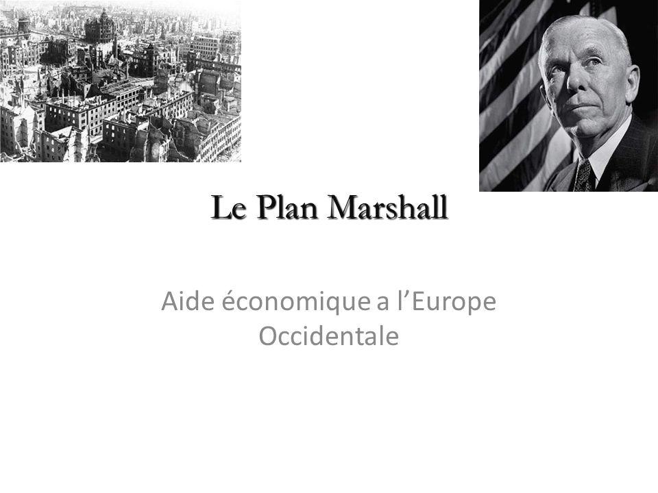 Aide économique a l'Europe Occidentale