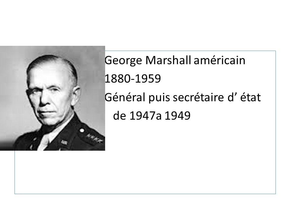 George Marshall américain
