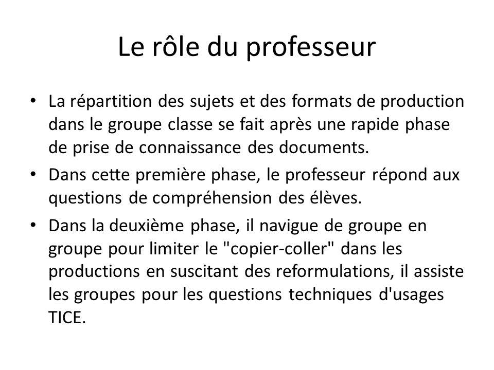 Le rôle du professeur