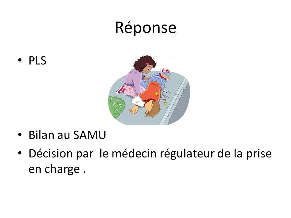 Réponse PLS Bilan au SAMU