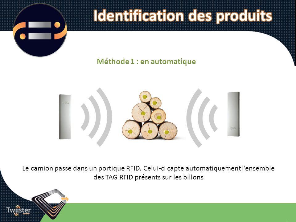 Identification des produits Méthode 1 : en automatique