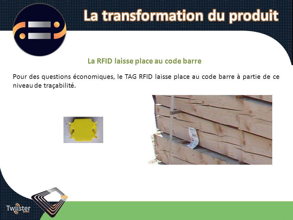 La transformation du produit La RFID laisse place au code barre