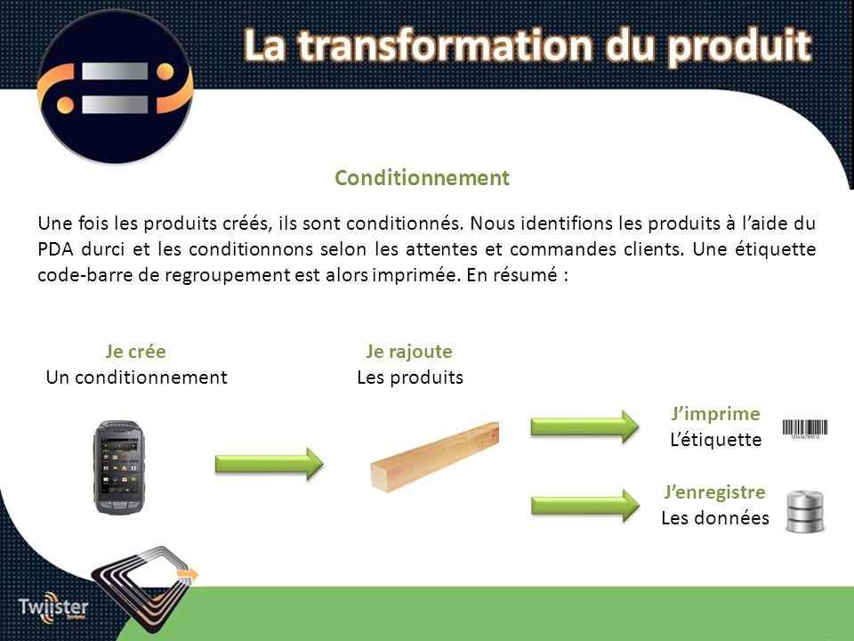 La transformation du produit