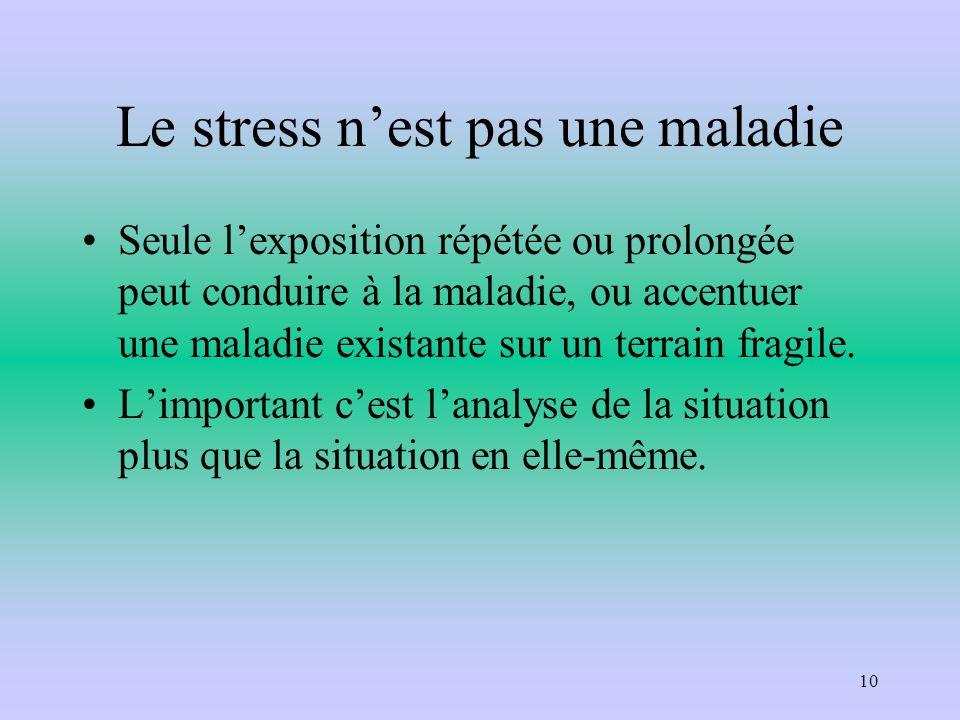 Le stress n'est pas une maladie