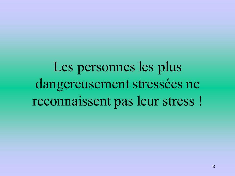 Les personnes les plus dangereusement stressées ne reconnaissent pas leur stress !
